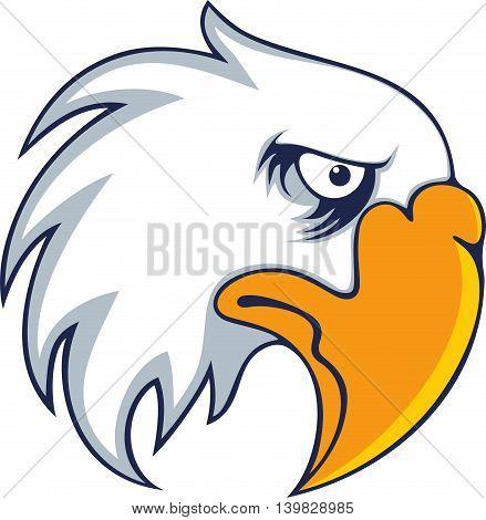 Eagle Logo design vector. Wild bird falcon hawk head. Logotype concept.