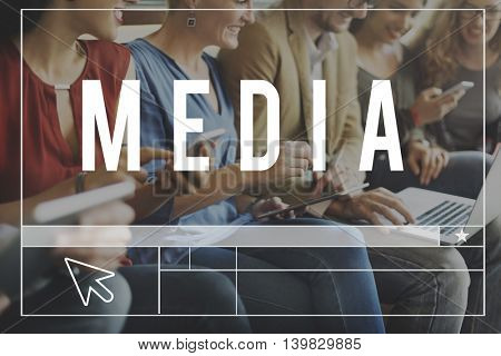 Media Social Online WEbsite Blog Concept