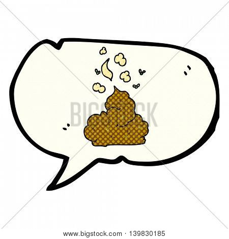 freehand drawn comic book speech bubble cartoon gross poop