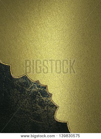 Gold Texture With Grunge Cut-out For Beauty. Template For Design. Copy Space For Ad Brochure Or Anno