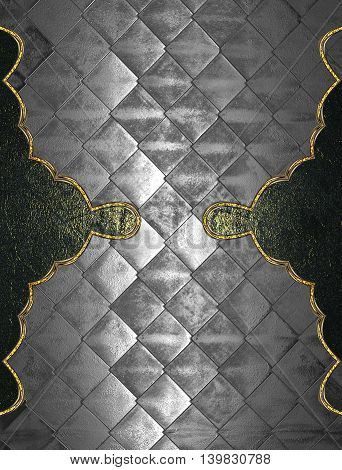 Abstract Metallic Background With Beautiful Edges. Template For Design. Copy Space For Ad Brochure O