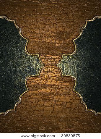 Dark Pattern Isolated On Wooden Background. Template For Design. Copy Space For Ad Brochure Or Annou