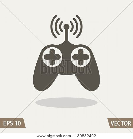 Remote control radio car, drone, fly and toy icon isolated on light background. Vector illustration for web, logo and packing design.