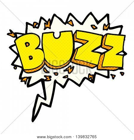 freehand drawn comic book speech bubble cartoon buzz symbol