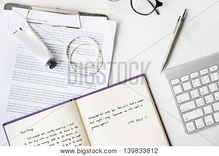 Diary Study Notes Keyboard Concept