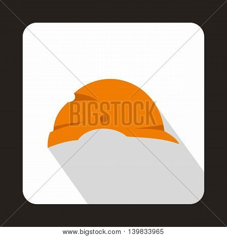 Construction helmet icon in flat style on a white background