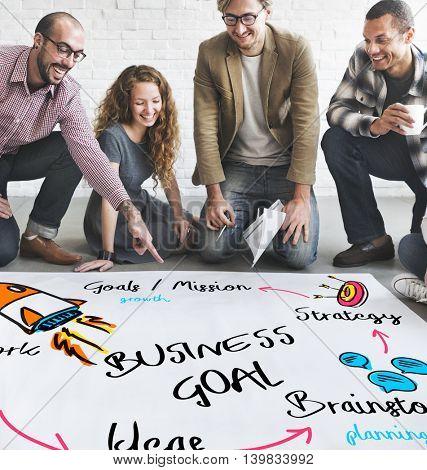 New Business Achievement Organization Progress Concept