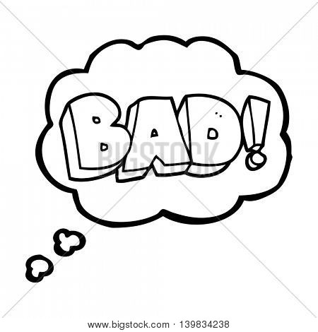 freehand drawn thought bubble cartoon Bad symbol
