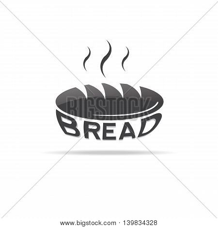 Bread icon for lables and banners. Vector illustration.