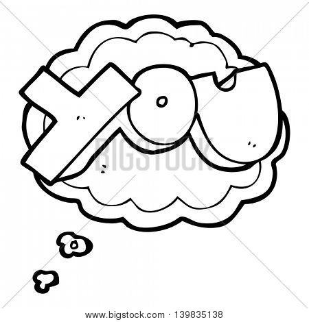 freehand drawn thought bubble cartoon you symbol