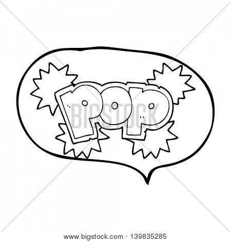 freehand drawn speech bubble cartoon pop explosion symbol