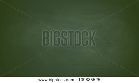 Green chalkboard background. Vector realistic texture eps10