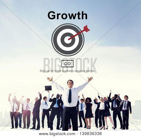 Growth Progress Development Icon Concept
