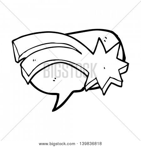 freehand drawn speech bubble cartoon decorative shooting star
