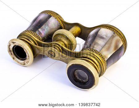 Set of Opera Glasses Binoculars on White Background