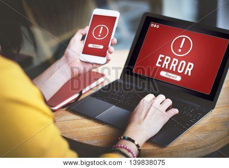 Error Network Problem Technology Software Concept