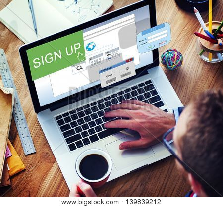 Sign-In Sign-Up Join Registry Membership Concept