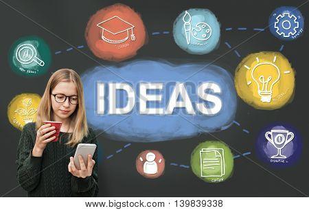 Brainstorm Knowledge Creative Imagine Think Concept