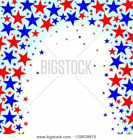 A red white and Blue Stars background