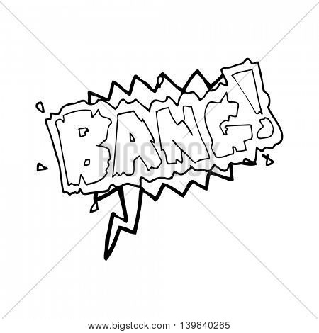 freehand drawn speech bubble cartoon bang symbol