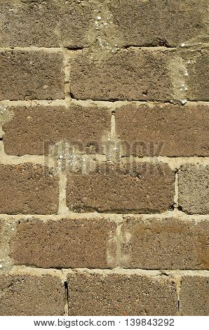 Texture of old wall made of concrete blocks