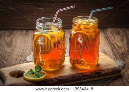 Fresh Homemade Ice Tea.