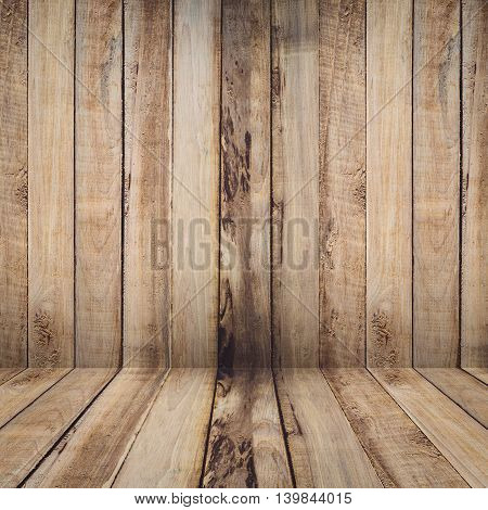 Old Wooden Background Texture With Perspective For Product
