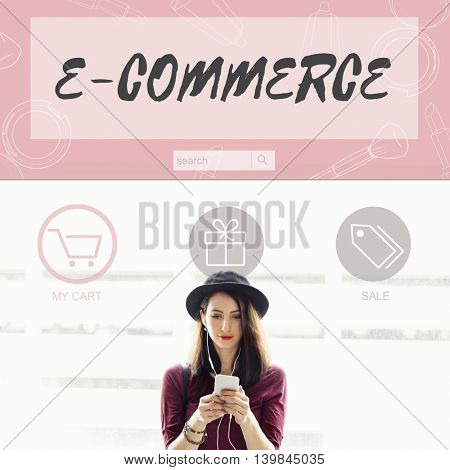 E-commerce Buy Online Internet Shopping Store Concept