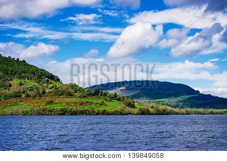 Countryside View In Loch Ness Lake In Scotland
