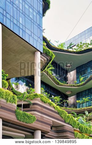 Modern Architecture Of Building Balcony In Singapore