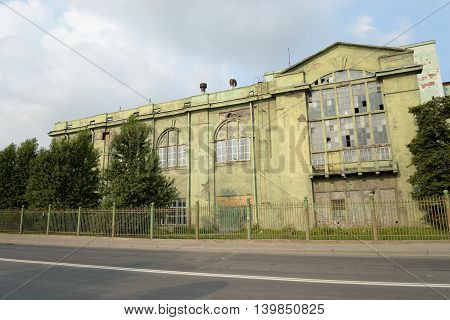 Old electric power station Red October St.Petersburg Russia. Building built in the 20 years of the 20th century.