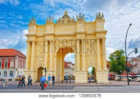 Brandenburg Gate On Luisenplatz In Potsdam In Germany