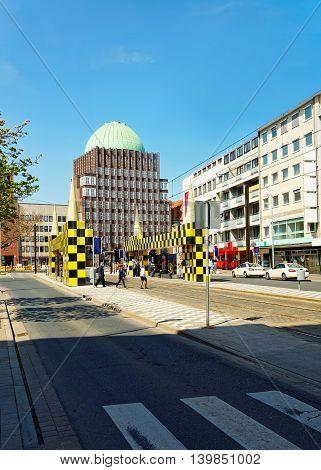 Bus Stop Steintor Of Hanover In Germany