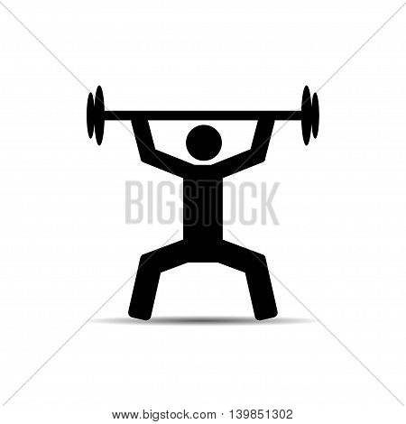 vector of Weightlifter icon on white background