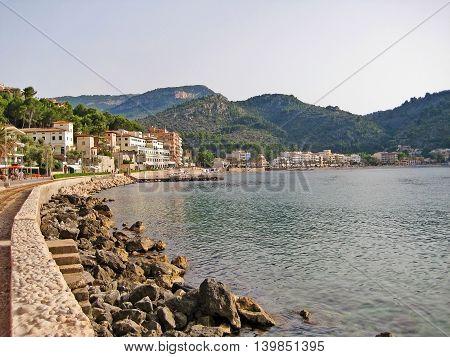 Port De Soller - Promenade With Hotels, Majorca
