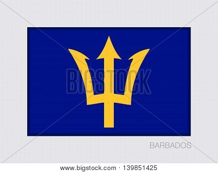 Barbados. Rectangular Official Flag With Proportion 2:3