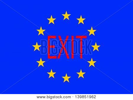 European Union Flag.UK Brexit. European Union broken.Brexit vector illustration.