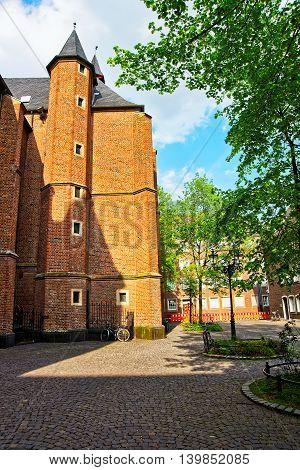 St Lambertus Basilica In The Old City Center In Dusseldorf