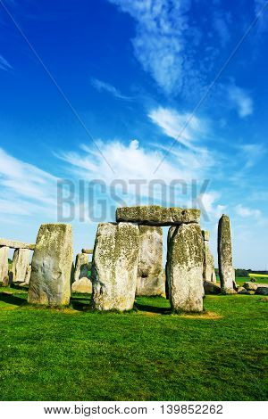 Stonehenge In Wiltshire Of England
