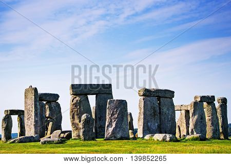 Stonehenge In Wiltshire Of Great Britain