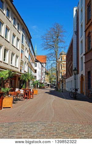 Street In The Old City Center In Hanover