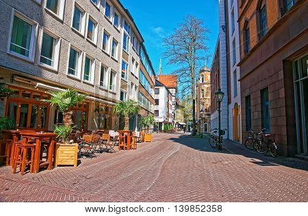 Street In The Old Town Center In Hanover
