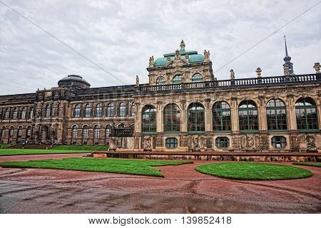 Zwinger Palace In Dresden Of Germany