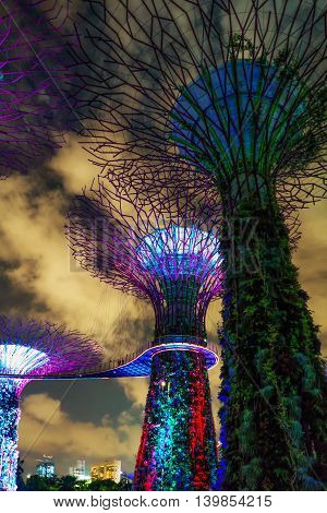 Supertrees Grove At Gardens By The Bay In Singapore Center
