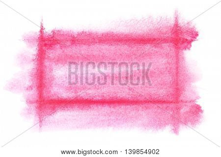Light red watercolor frame - abstract  background or space for your own text
