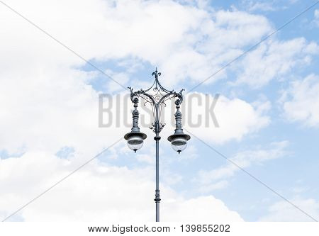 Old-fashioned city street lamp. Latern light. Berlin, Germany