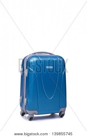 Suitcase isolated on the white background