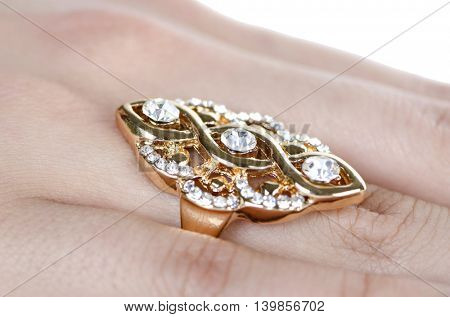 Jewellery ring worn on the finger