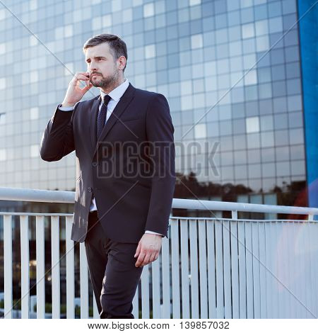 Professional Businessman During Business Call