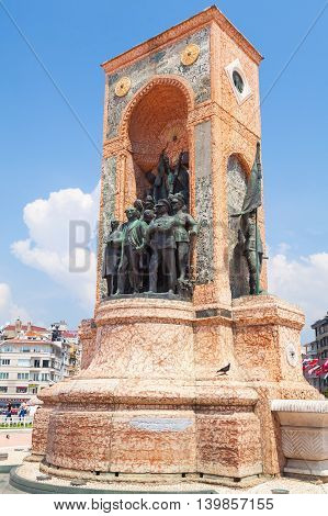 The Republic Monument On Taksim Square